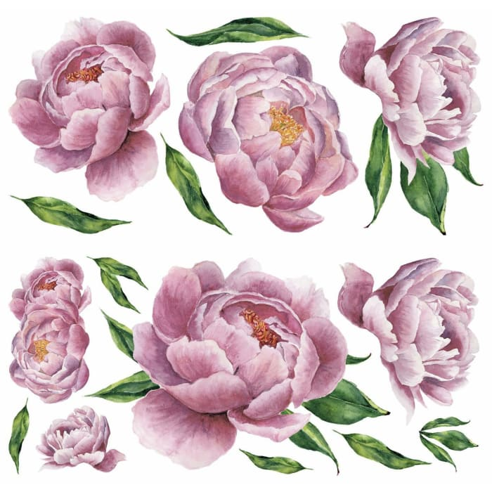 Large Peony Peel And Stick Giant Wall Decals