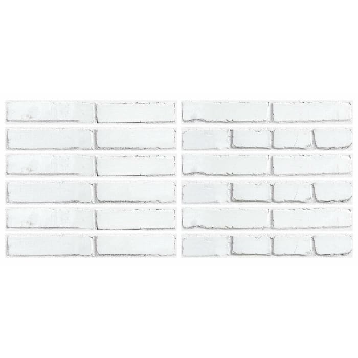 White Brick Peel And Stick Giant Wall Decals