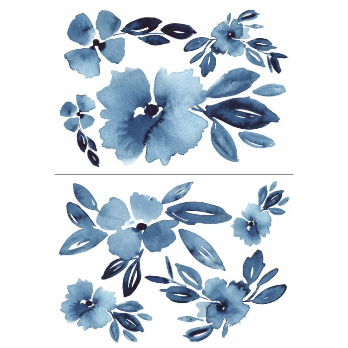 Clara Jean April Showers Flowers Peel And Stick Giant Wall Decals