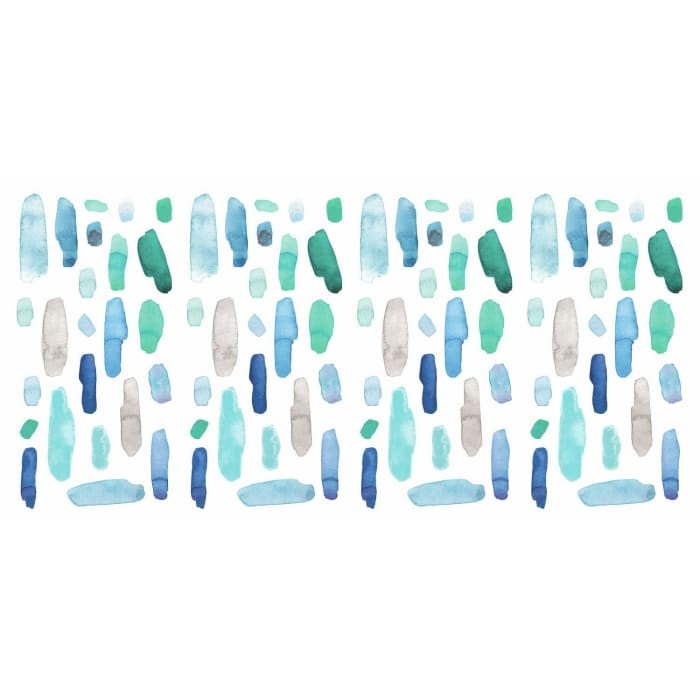 Cool Watercolor Swatch Peel And Stick Wall Decals