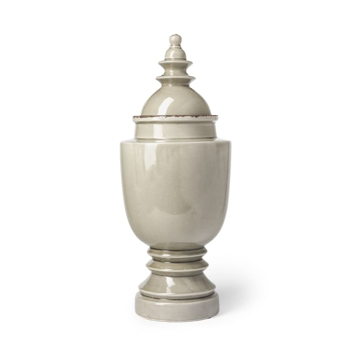 Branigan II Gray Ceramic Large Urn