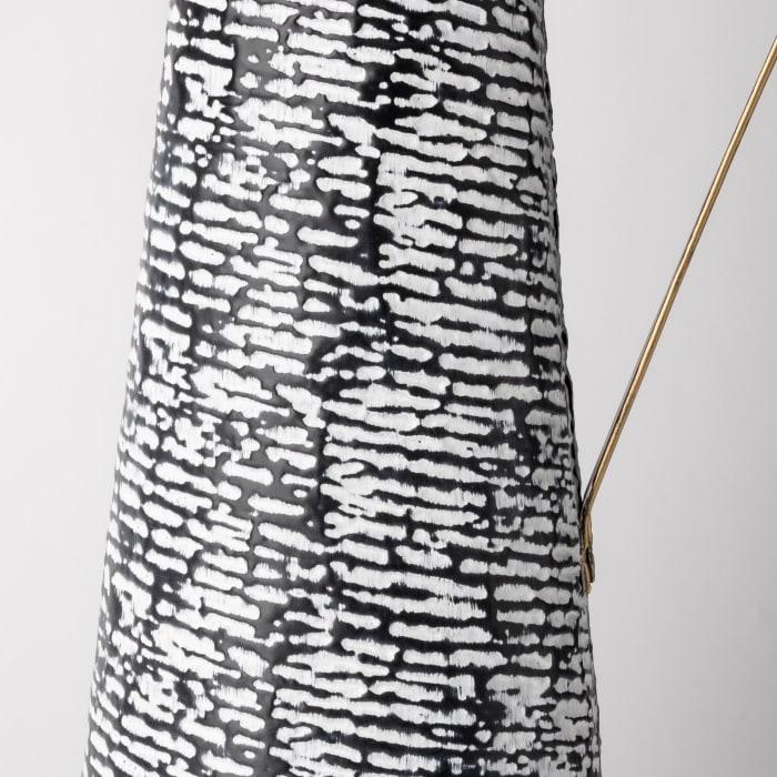 Colette Black and White Large Patterned Vase
