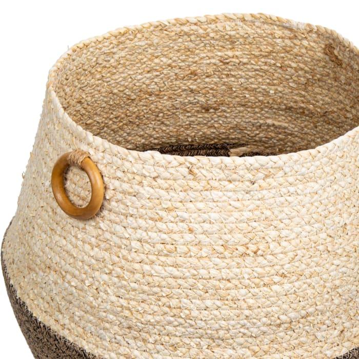 Jute Neutral with Handles Planter Basket