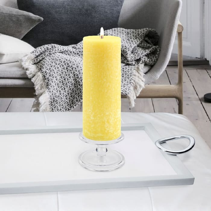 Timberline Yellow Pillar Unscented Candle