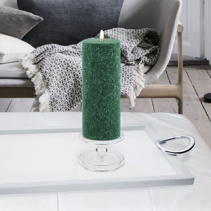 Timberline Dark Green Pillar Unscented Candle
