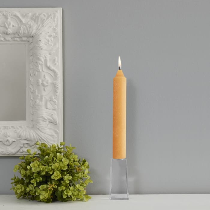 Timberline Orange Collenette Dinner Set of 4 Unscented Candles