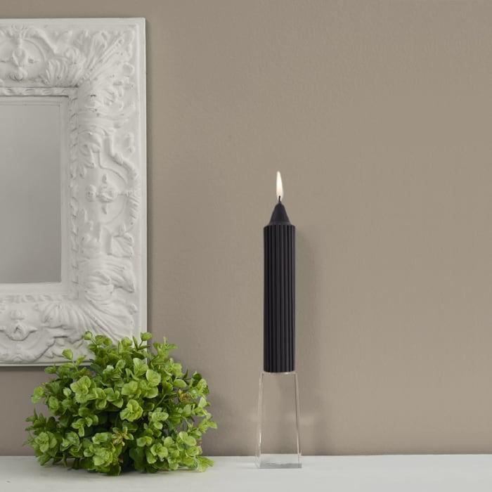 Grecian Black Collenette Dinner Set of 4 Unscented Candles