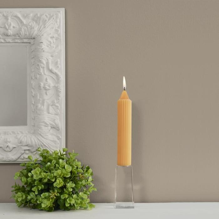 Grecian Mandarin Collenette Dinner Set of 4 Unscented Candles