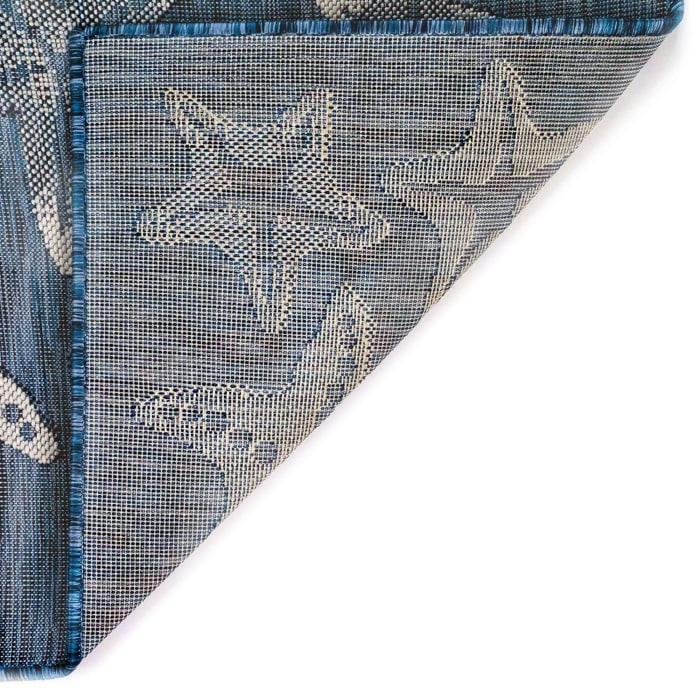 Starfish Navy Outdoor Rug