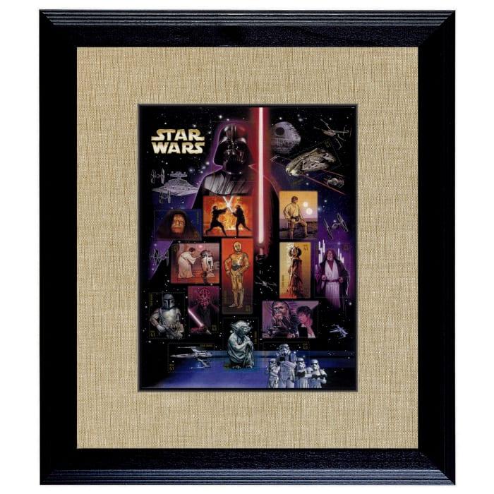 Star Wars U.S. Stamp Sheet Wood Wall Frame