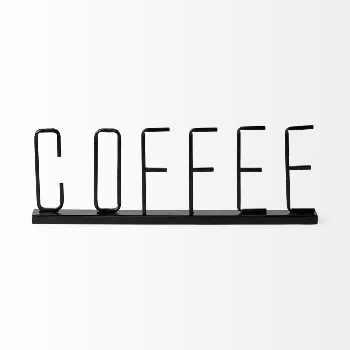Coffee Black Metal Sign
