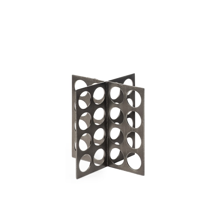 Fletcher Small Gray Metal Abstract Decorative Object