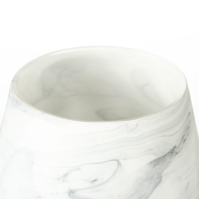 Volta I Short Gray Cream Ceramic Abstract Pattern Vase