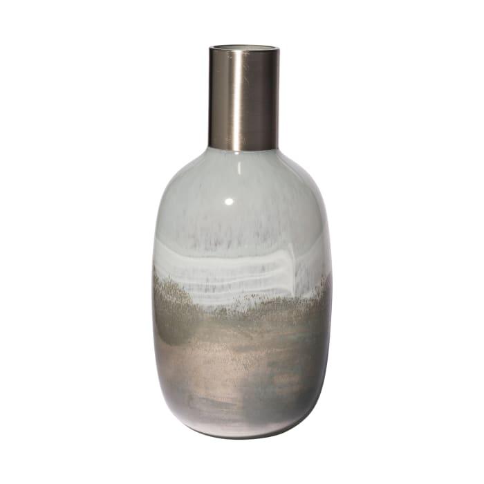 Onega II Tall Gradient Blue Glass Gourd Style Vase