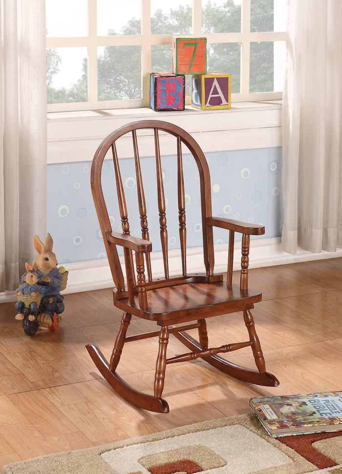 Tobacco Wooden Youth Rocking Chair