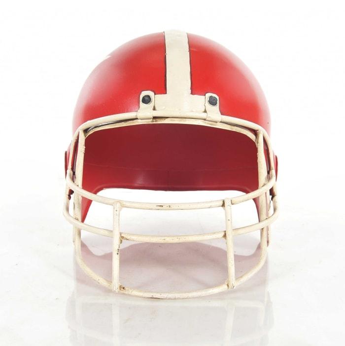 Handmade Vintage Look Football Helmet Sculpture
