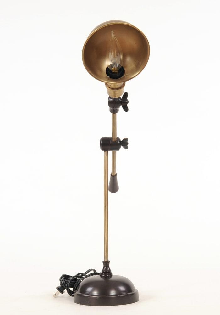Bronze Finish Vintage Look Desk Lamp