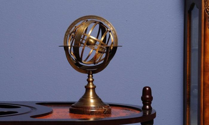 Wood Base Armillary Sphere