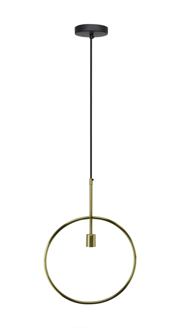 Matte Brass Circular Pendant Lamp
