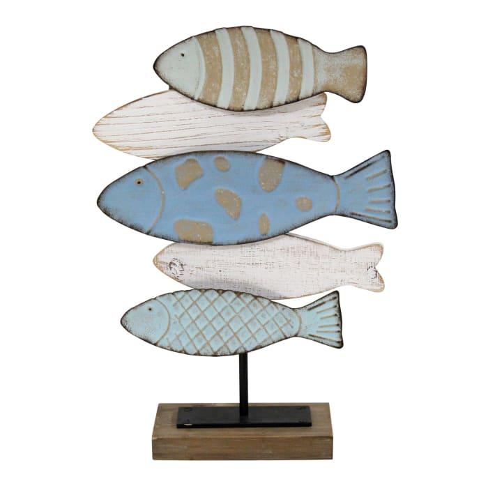 Coastal School of Fish Metal Tabletop