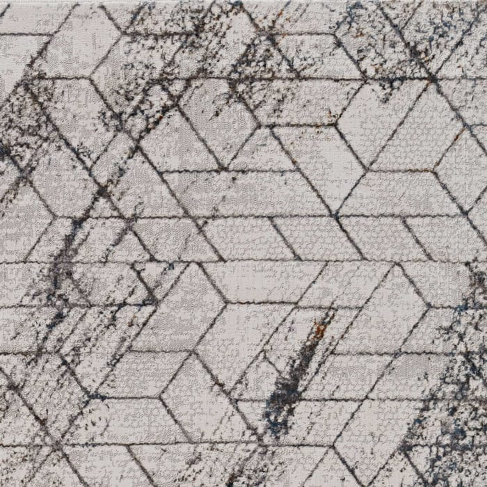 3' x 5' Ivory Geometric Pattern Area Rug