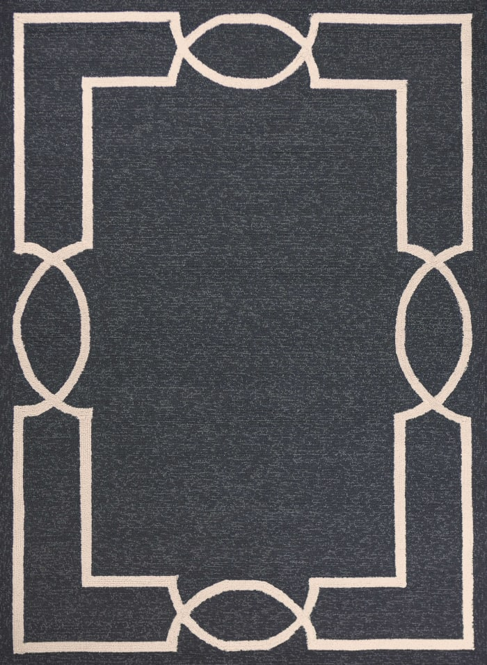 3' x 5' Onyx Coastal Bordered Area Rug