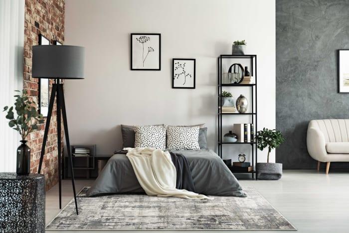 3' x 5' Grey Abstract Viscose Rug