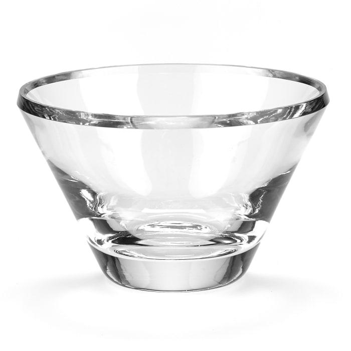 Crystal European Made Beveled Edge Mouth Blown  Bowl