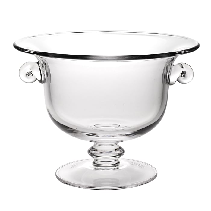 Crystal Trophy Centerpiece  Mouth Blown Fruit Bowl