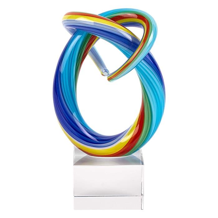 Rainbow Centerpiece Art Glass