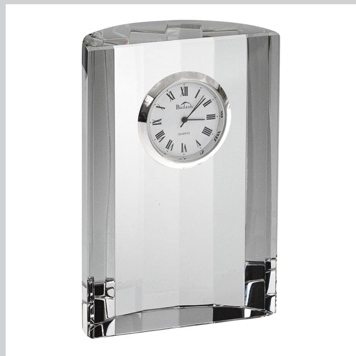 Hand Crafted Crystal Half Moon Clock