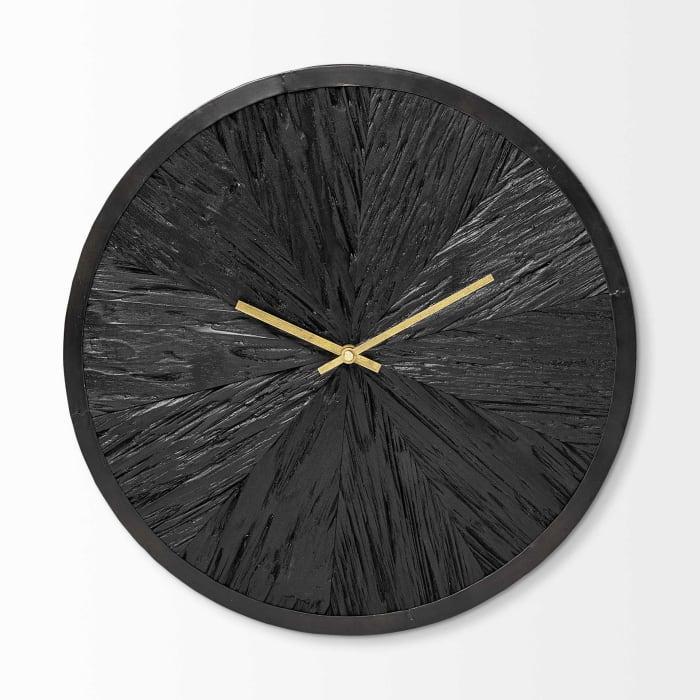 Modern Round Large Black Wall Clock