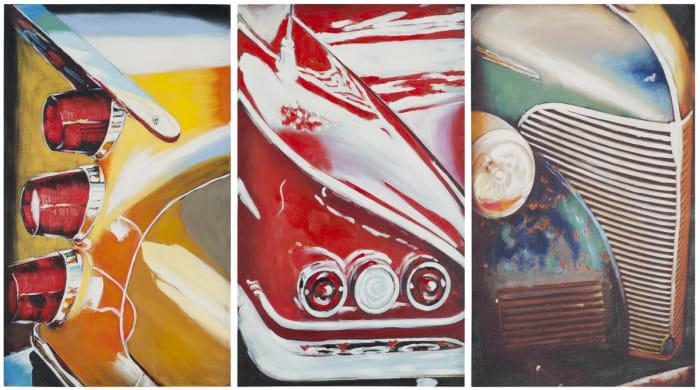 Auto Legends Triptych Wall Art