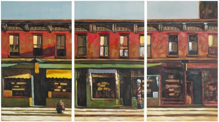 Main Street Reveries Triptych Wall Art