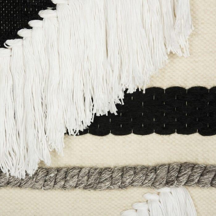Sedona Woven Black White Wall Art