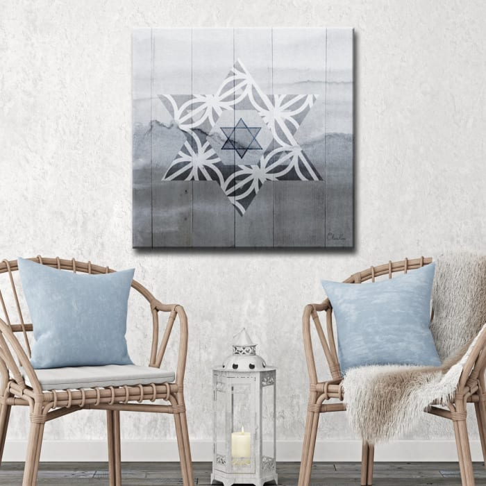 Star VI Small Dusk Wrapped Canvas Wall Art