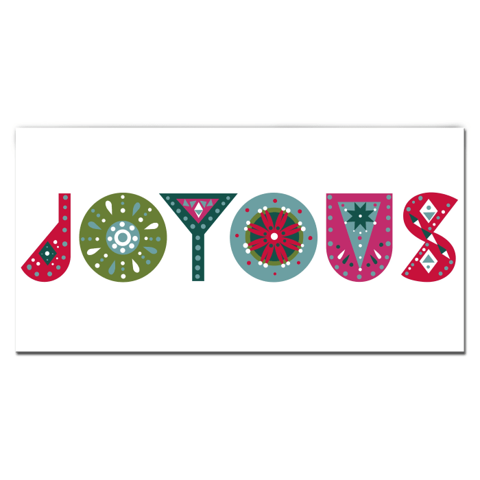 Christmas Joy Large Multicolored Holiday Wrapped Canvas Wall Art