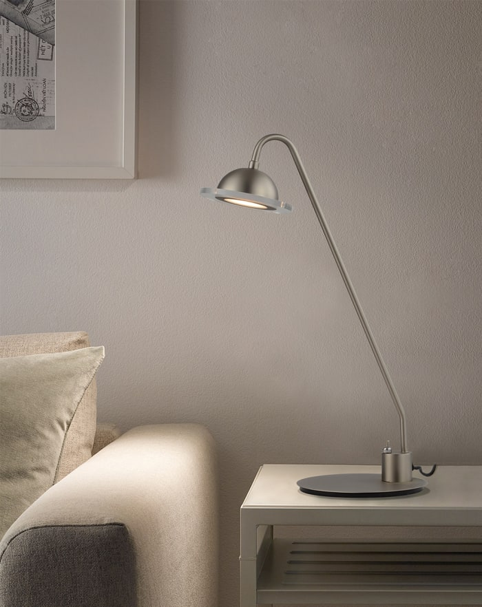 Laurel Accent Satin Nickel Table Lamp