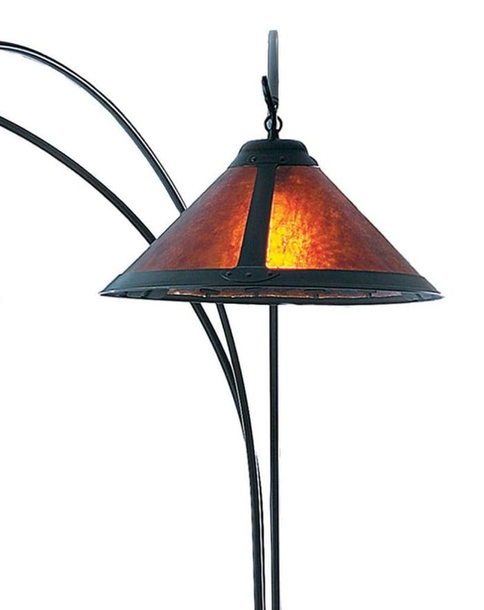 Mica 3-Light Bronze Arc Lamp