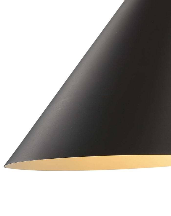 Solana Gunmetal Shade with Matte Black Body Sconce