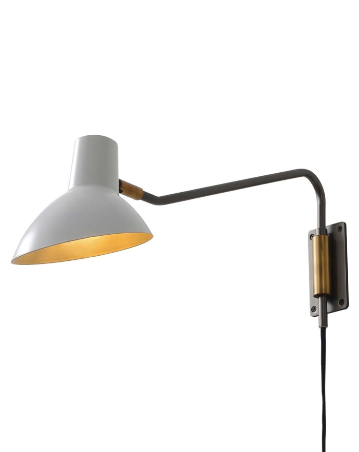 Swing White Shade with Gunmetal Body Sconce