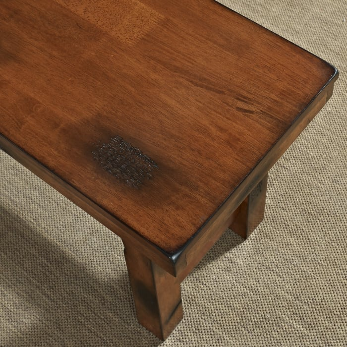 Rustic Classic Dark Oak Dining Bench