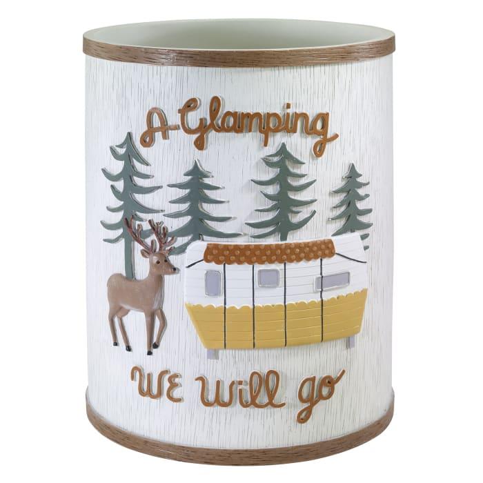 Gone Glamping Wastebasket
