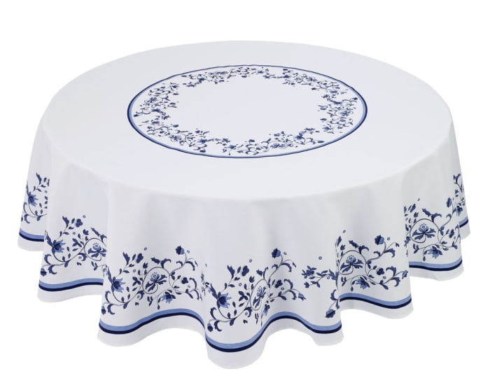 Blue Portofino Round Table Cloth