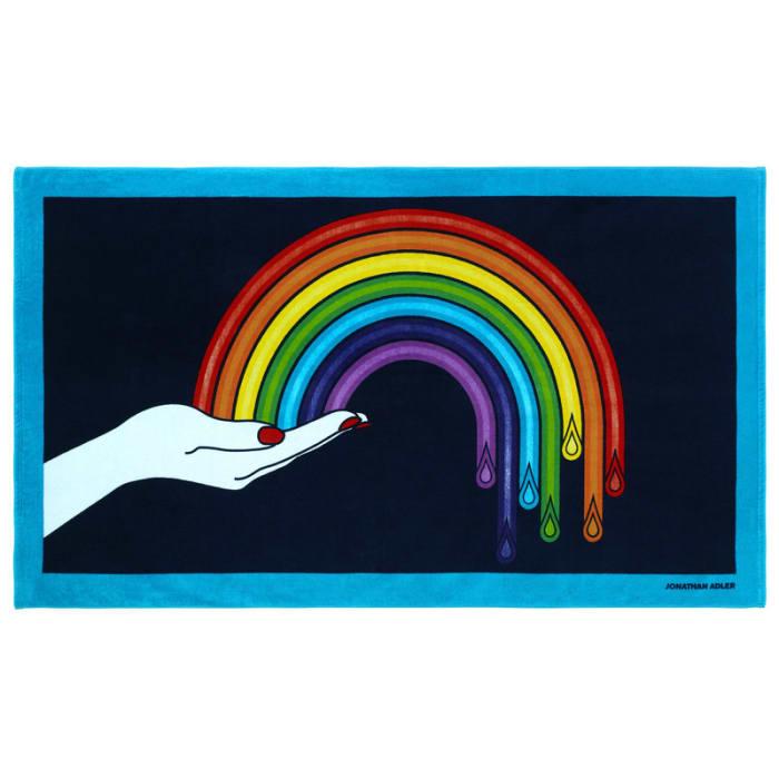 Jonathan Adler Drip Rainbow Beach Towel