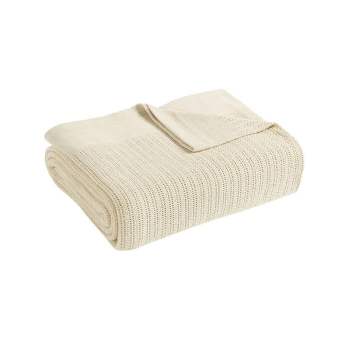 Avanti Fiesta Ivory King Blanket