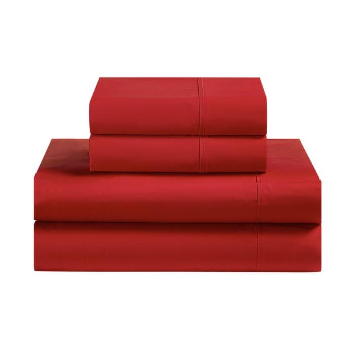 Avanti Fiesta Red King Sheet Set