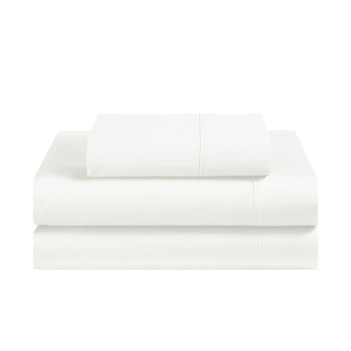 Avanti Fiesta White Twin Sheet Set