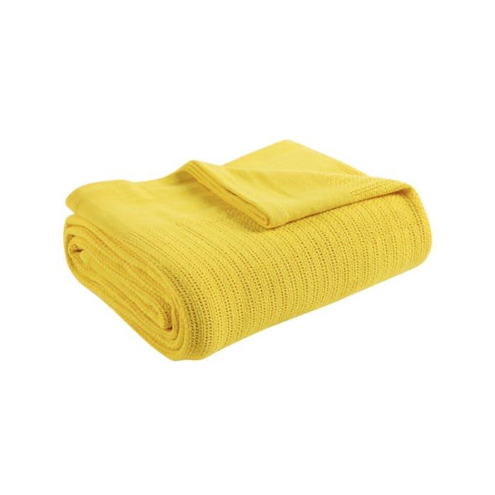 Avanti Fiesta Sunflower Yellow Blanket Twin