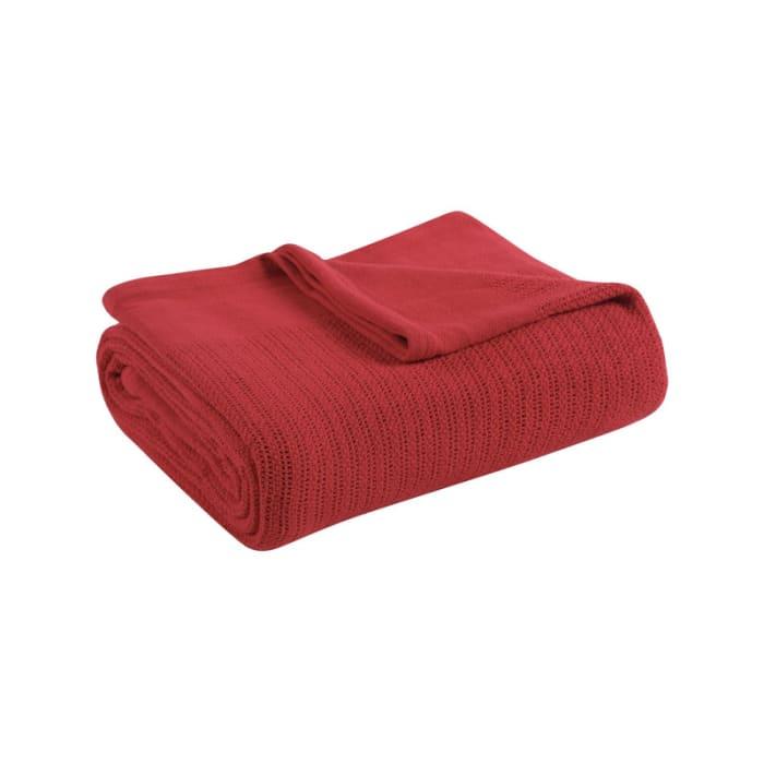 Avanti Fiesta Scarlet Red Blanket Twin